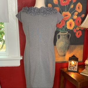 Taylor Dresses - Taylor Heather Gray Structured Cap Sleeve Dress 10